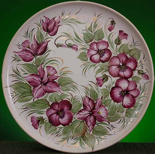 Wall decor plate 360mm V1350