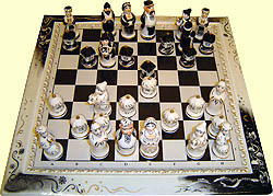 "Sculpture set 'Chess Dikanka' (Based on story ""Evenings on a"