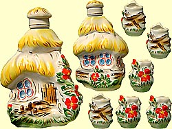 Bottle set 'Log-hut in summer' (incl. 7 items)