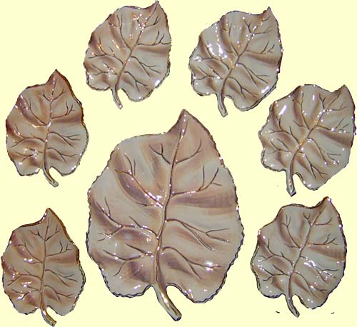 Saucer set 'Leaf' (brown)