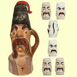 Bottle set 'Ataman' with music (incl. 7 items)