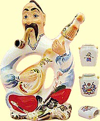 Bottle set 'Cossack with bandure' (incl. 4 items)
