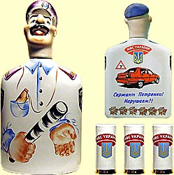 Bottle set 'Traffic cop' (incl. 4 items)